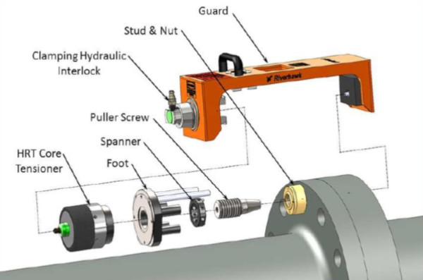 hydraulic safety interlock guard tensioner riverhawk diagram